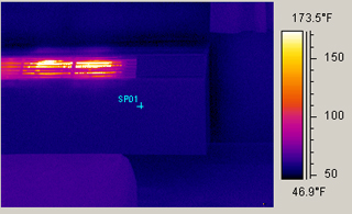Thermal image of a wall heater
