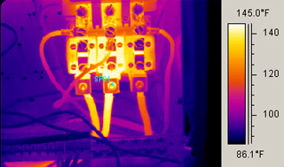 electrical predictive maintenance thermal infrared image