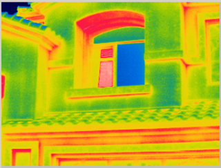 outdoor ir thermography energy audit scan